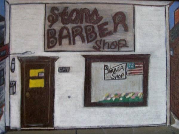 Blades Mixed Media - Stans Barber Shop Menominee by Jonathon Hansen