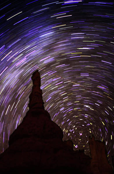 Hoodoos Photograph - Star Trails by Gustoimages/science Photo Library
