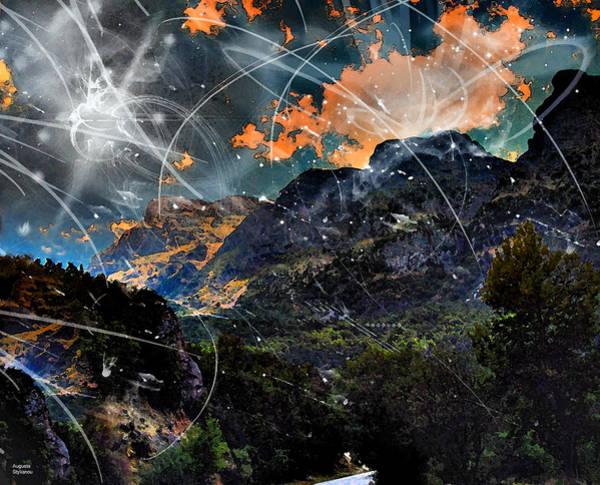 Photograph - Starry Night Landscape by Augusta Stylianou