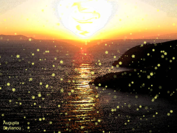 Photograph - Starry Sunset by Augusta Stylianou