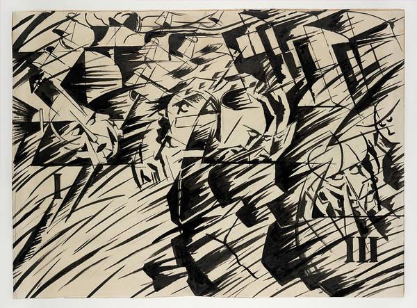 Boccioni Wall Art - Drawing - States Of Mind Those Who Go by Umberto Boccioni