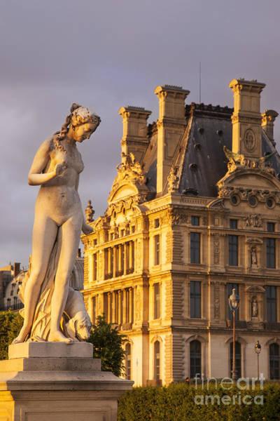 Jardin Des Tuileries Photograph - Statue Below Musee Du Louvre by Brian Jannsen