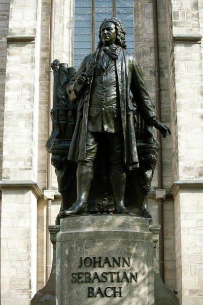 Composer Photograph - Statue Of J S Bach On Grounds Of St by Dave Bartruff