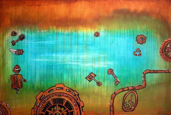 Wall Art - Painting - Steam by Laura Barbosa