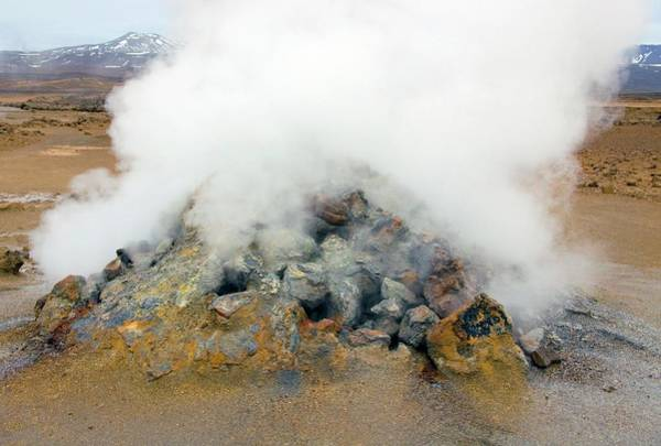 Vent Photograph - Steam Vent by Steve Allen/science Photo Library