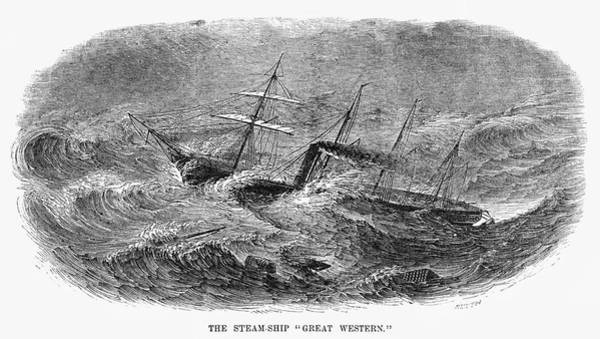 Painting - Steamship Great Western by Granger