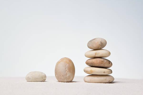 Stones Stacked. Art Print