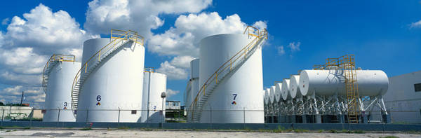 Dade Photograph - Storage Tanks In A Factory, Miami by Panoramic Images