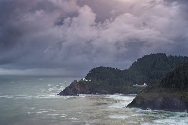 Heceta Head Lighthouse Photograph - Storm Rolling In by Andrew Soundarajan
