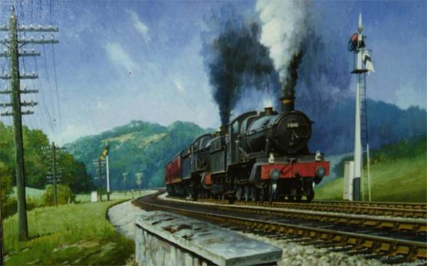 Trains Painting - Storming Dainton by Mike Jeffries