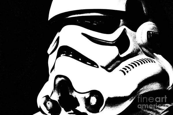Star Wars Wall Art - Photograph - Stormtrooper Helmet 27 by Micah May