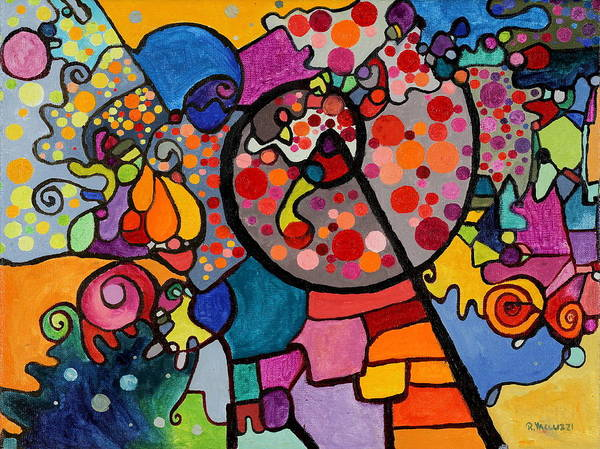 Painting - Strange Attractor by Regina Valluzzi