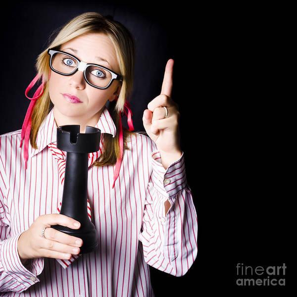 Intelligent Photograph - Strategic Nerd Thinking Up Business Plan by Jorgo Photography - Wall Art Gallery