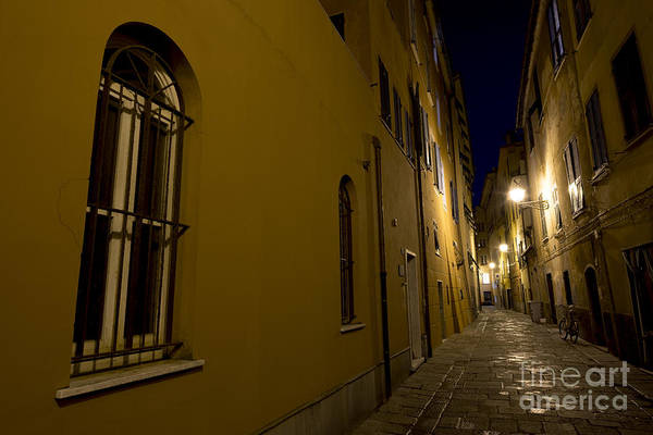 Sestri Levante Photograph - Street Alley By Night by Mats Silvan