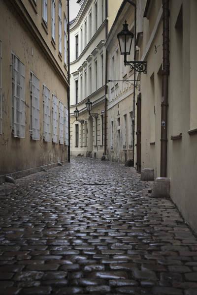 Photograph - Street In Prague by Maria Heyens