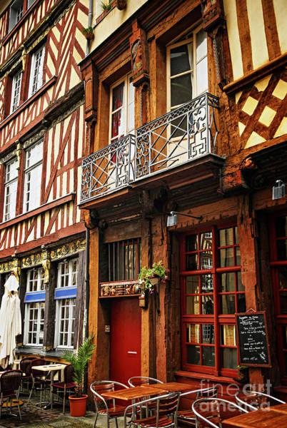Tudor Photograph - Street In Rennes by Elena Elisseeva
