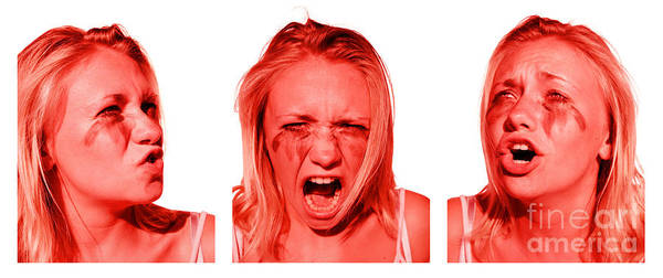 Anger Photograph - Stress Anger And Sadness by Jorgo Photography - Wall Art Gallery