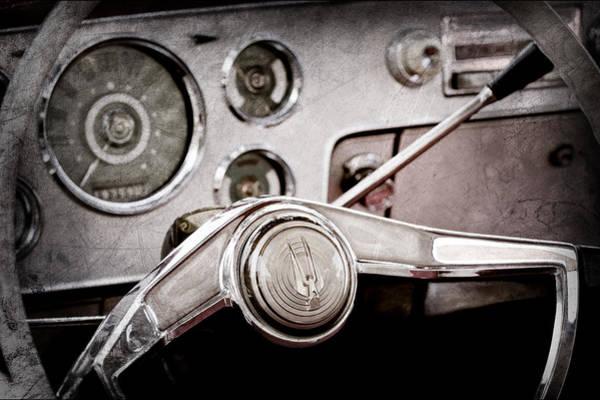Studebaker Photograph - Studebaker Steering Wheel Emblem by Jill Reger