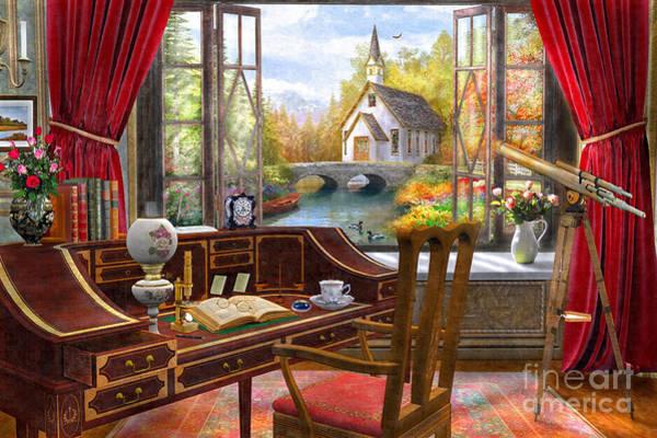 Church Digital Art - Study View by Dominic Davison
