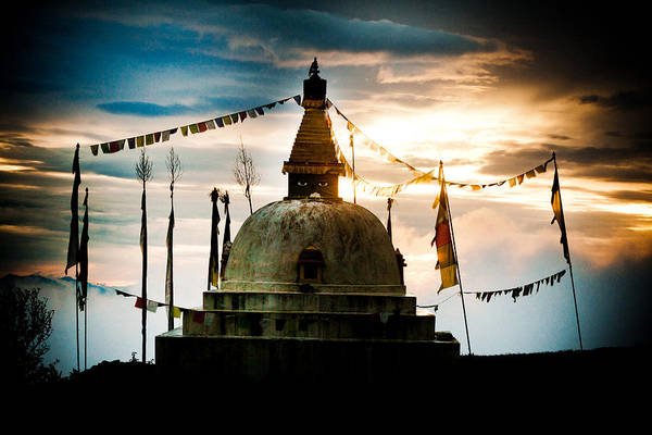 Wall Art - Photograph - Stupa In Himalyas Mountain  by Raimond Klavins