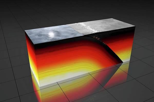 Subterranean Photograph - Subduction Zone by Peter Matulavich