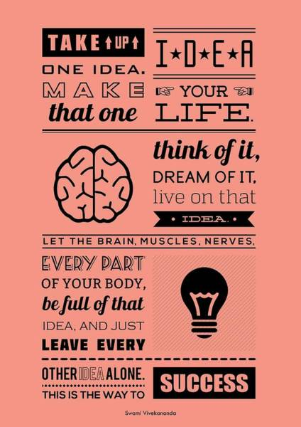 Wall Art - Digital Art - Success Inspirational Quotes Poster by Lab No 4 - The Quotography Department