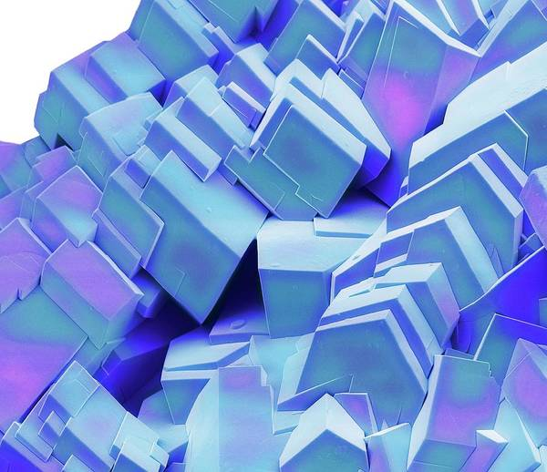 Wall Art - Photograph - Sugar Crystals by Steve Gschmeissner/science Photo Library