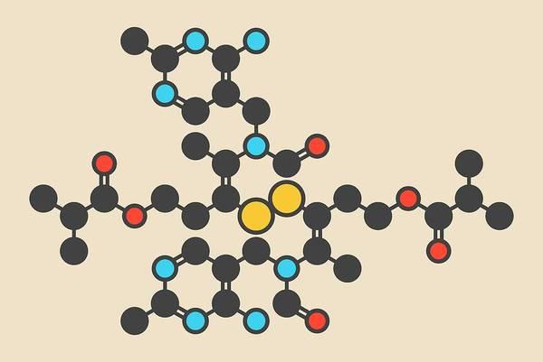 Wall Art - Photograph - Sulbutiamine Asthenia Drug Molecule by Molekuul/science Photo Library