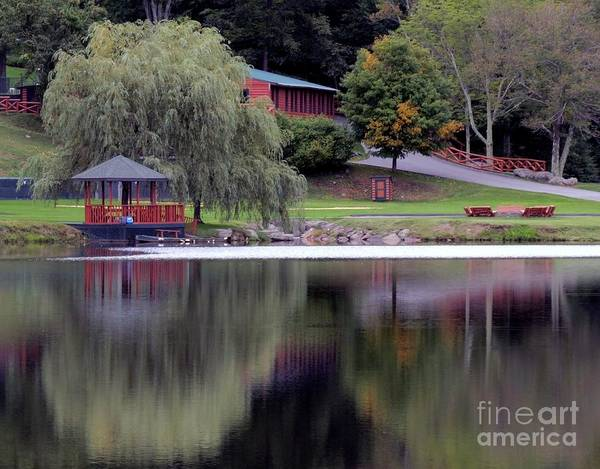 Photograph - Summer Camp Reflections by Donna Cavanaugh