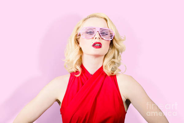 Photograph - Summer Fashion Model. Girl In A Pink Sun Glasses by Jorgo Photography - Wall Art Gallery