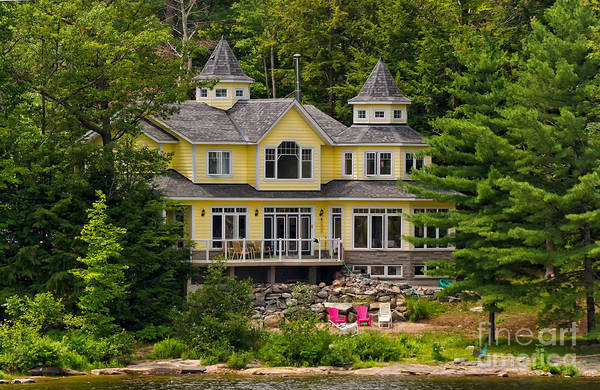 Photograph - Stately Summer Home by Les Palenik