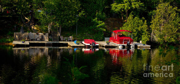 Photograph - Summer Morning On Muskoka River by Les Palenik