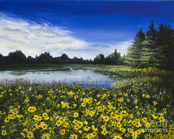 Painting - Summer Susans by Mary Palmer