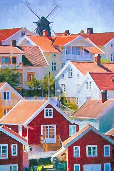 Nordic Painting - Summer Village by Lutz Baar