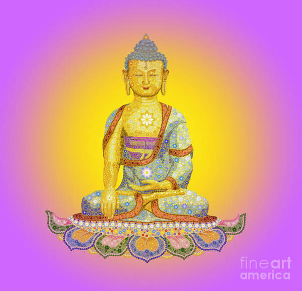 Wall Art - Digital Art - Sun Buddha by Tim Gainey
