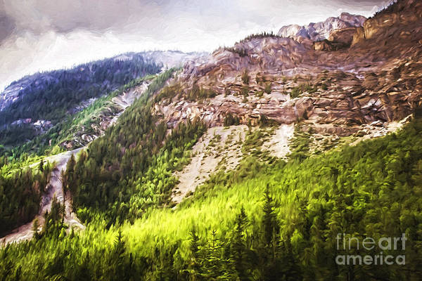 Photograph - Sun Shining Down In The Valley/ Digital Painting  by Sandra Cunningham