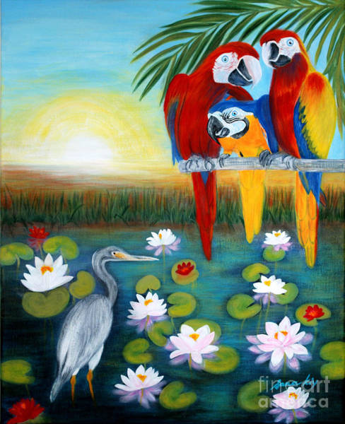 Painting - Sunrise In Paradise. Inspirations Collection. by Oksana Semenchenko