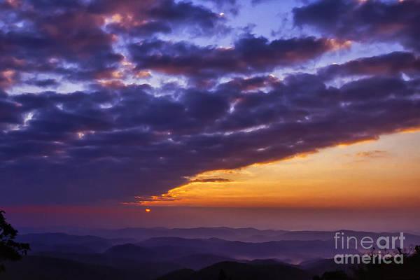 Photograph - Sunrise Over Blue Ridge Mountains by Thomas R Fletcher