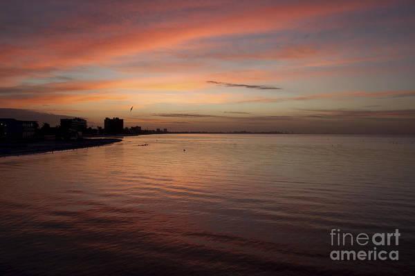 Photograph - Sunrise Over Fort Myers Beach Photo by Meg Rousher