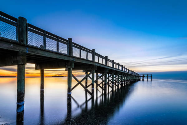 Milford Photograph - Sunrise Under The Boardwalk by Randy Scherkenbach