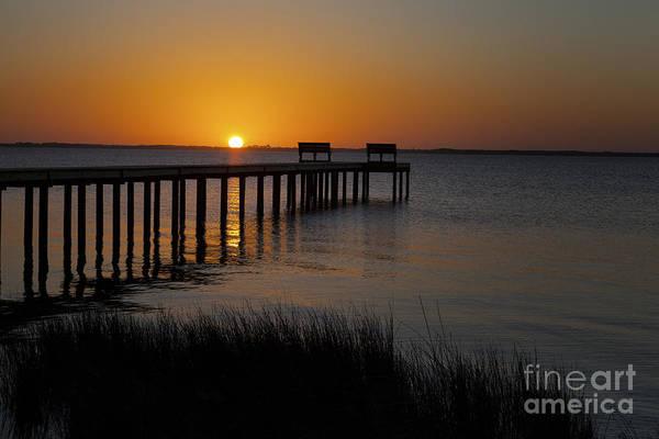 Photograph - Sunset Across Currituck Sound by Ronald Lutz
