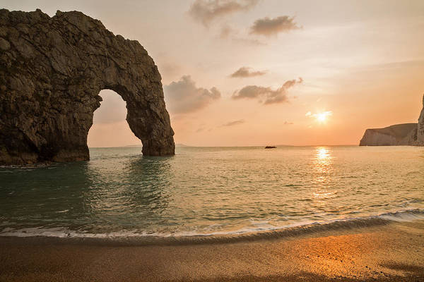 Wall Art - Photograph - Sunset At Durdle Door by Ian Middleton