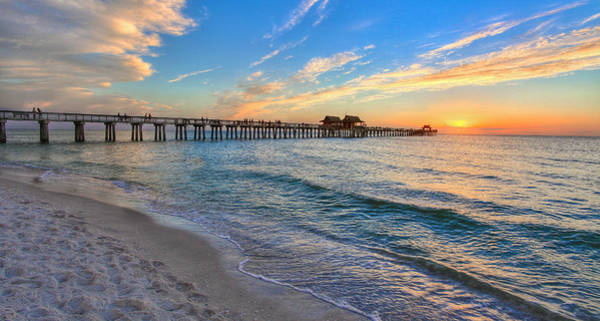 Photograph - Sunset At Naples Pier by Sean Allen