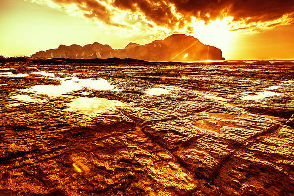 Sunset In Phi-phi Don Island, Thailand Art Print