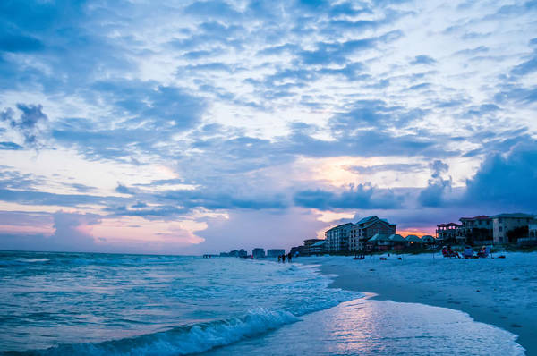 Photograph - Sunset On Florida Beach With White Sand And Blue Sky by Alex Grichenko