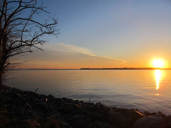 Wall Art - Photograph - Sunset Over Chesapeake Bay by Valia Bradshaw