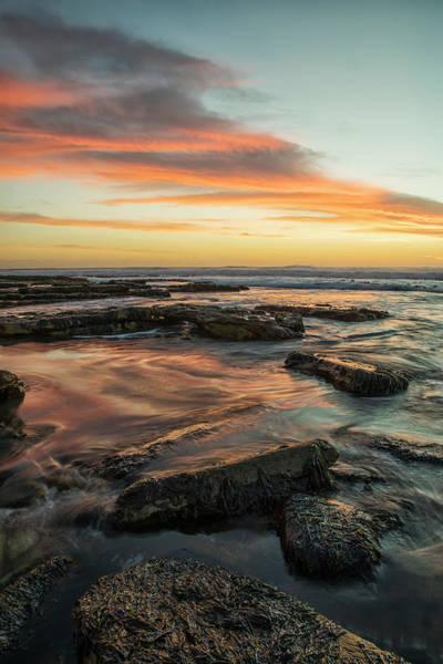Wall Art - Photograph - Sunset Over The Ocean Near The City by Robert Postma