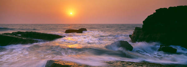 Goa Photograph - Sunset Over The Sea, Goa, India by Panoramic Images