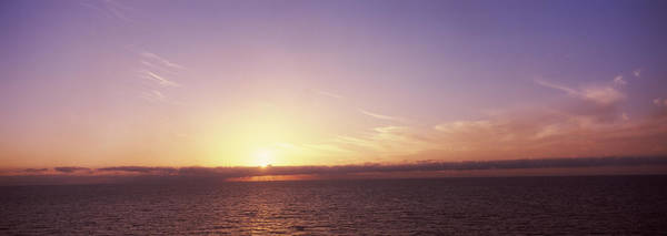 Peacefulness Photograph - Sunset Over The Sea by Panoramic Images