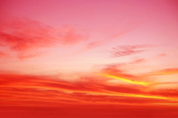 Sunset Colors Photograph - Sunset Sky by Les Cunliffe